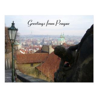 prague greetings postcard