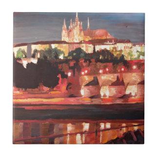 Prague - Hradschin with Charles Bridge Tile