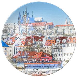 Prague in Pastel Decorative Plate