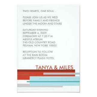 Prague Invite:  Modern Red 5x7 Paper Invitation Card