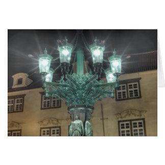 Prague - Lamp at Night Card
