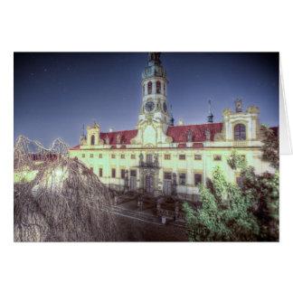 Prague - Loreta Monastery at Night Card