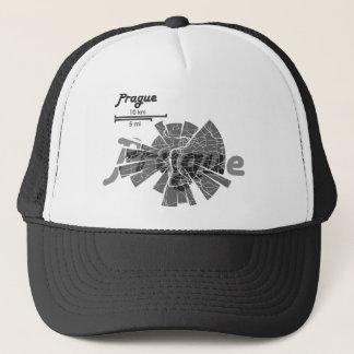 Prague Map Trucker Hat