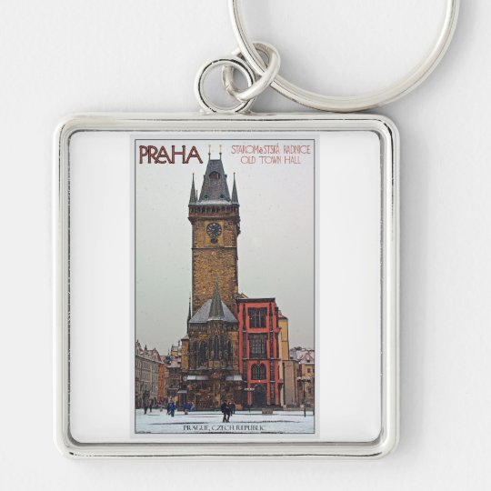 Prague - Old Town Hall Keychain