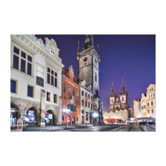 Prague Old Town Square at Night Canvas