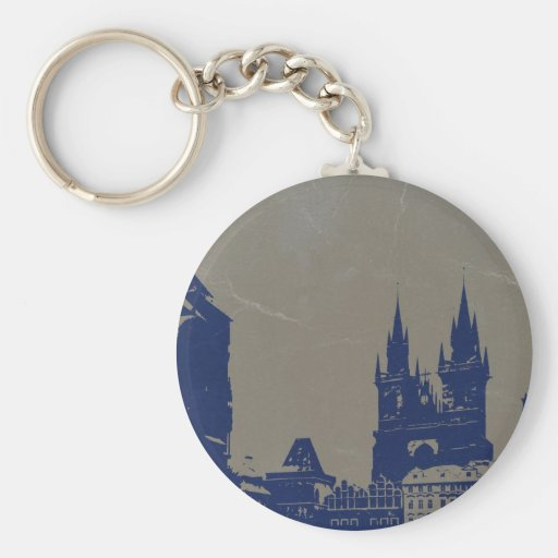 PRAGUE OLD TOWN SQUARE KEYCHAINS