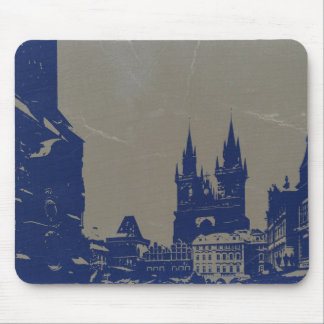 PRAGUE OLD TOWN SQUARE MOUSE PAD