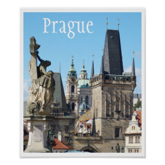 Prague, Old Town Square, Rooftops Poster