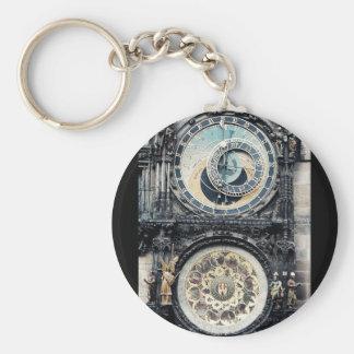 Prague Orloj Keychain