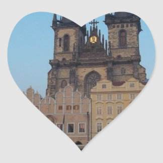 Prague Praha Czech Republic Old Town Square Heart Sticker