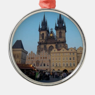Prague Praha Czech Republic Old Town Square Metal Ornament