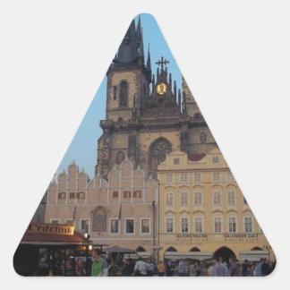 Prague Praha Czech Republic Old Town Square Triangle Sticker