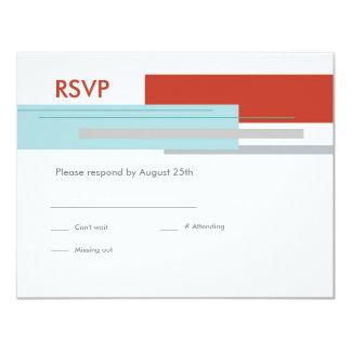 Prague Response Card: Modern Red Card