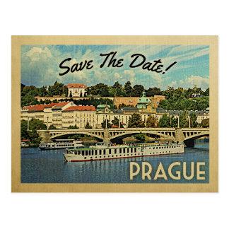 Prague Save The Date Czech Republic Postcard