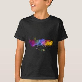 Prague skyline in watercolor T-Shirt