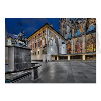Prague St.Vitus Cathedral at Night Card