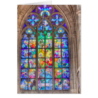 Prague - St. Vitus Stained Glass Window Card