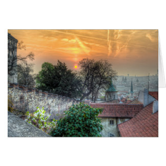Prague - Stairs in the Morning Card