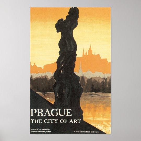 Prague, The City of Art Poster