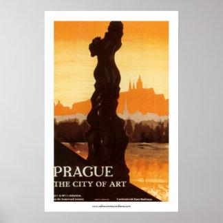 Prague - The City of Art Poster