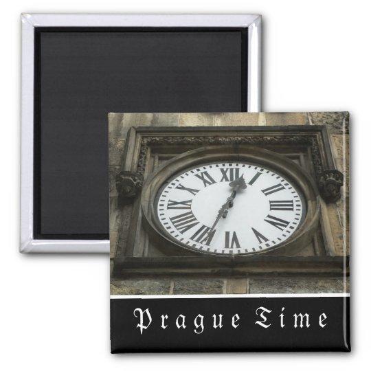 Prague Vintage Clock Magnet