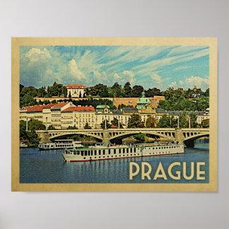 Prague Vintage Travel Poster