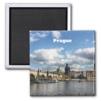 Prague Vintage Travel Tourism Add Magnet
