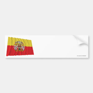 Prague Waving Flag Bumper Sticker