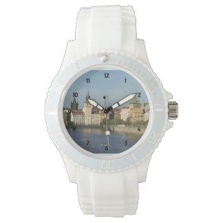 Prague Whtie Sporty Strapped Watch