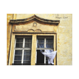 Prague Window Canvas Print