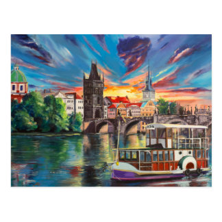 Prague's fairytales postcard