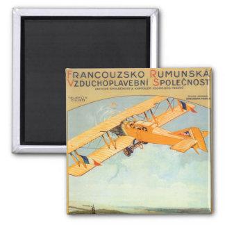 Praha ~ Franco Roumanie 2 Inch Square Magnet