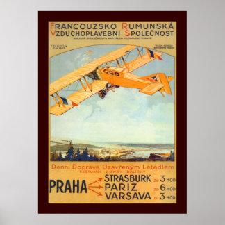 Praha ~ Franco Roumanie Poster