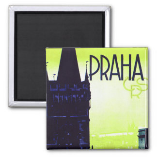 Praha 2 Inch Square Magnet