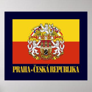 Praha (Prague) Flag & COA Poster