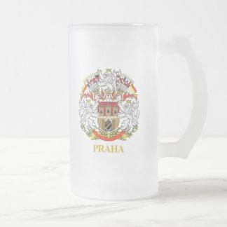 Praha (Prague) Frosted Glass Beer Mug