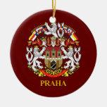 Praha (Prague) Double-Sided Ceramic Round Christmas Ornament