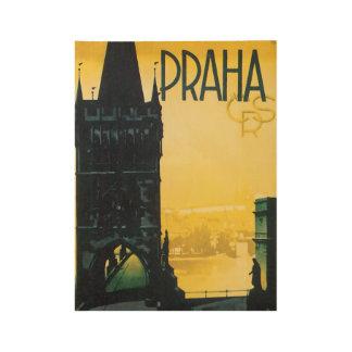 Praha Prague Vintage Travel Poster