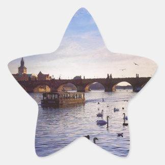 Praha Star Sticker