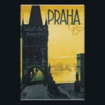 """Praha Vintage Travel Poster<br><div class=""""desc"""">This product features Praha vintage travel poster artwork.     Like this design,  but you want to tweak it? Just click on &quot;Customize&quot; to add text or adjust things to your liking.</div>"""