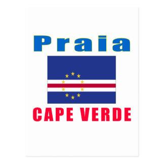 Praia Cape Verde capital designs Postcard