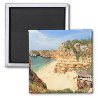 Praia da Marinha 2 Inch Square Magnet