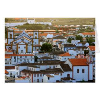 Praia da Vitoria Skyline Greeting Card