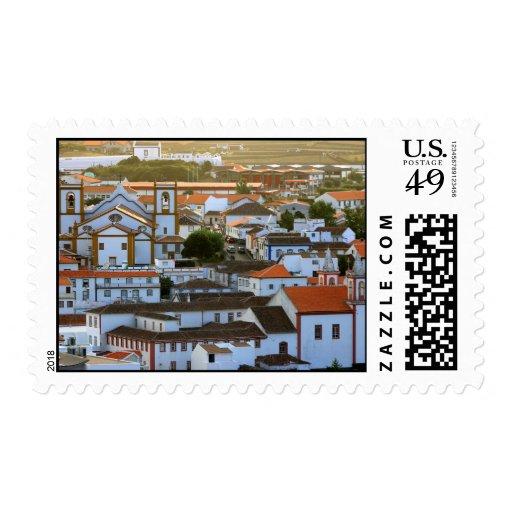 Praia da Vitoria Skyline Postage Stamp