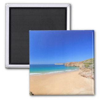 Praia do Beliche 2 Inch Square Magnet
