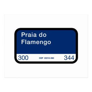 Praia do Flamengo, Rio de Janeiro, Street Postcard