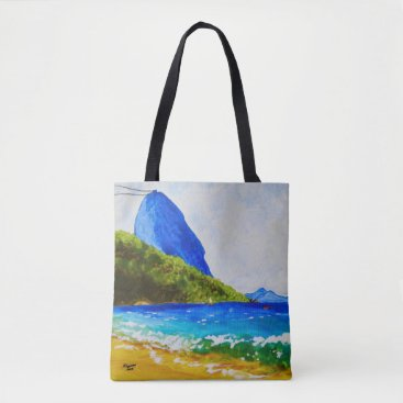 Beach Themed Praia Vermelha (Red Beach) Tote Bag