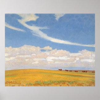 Prairie After Storm by Maynard Dixon Print