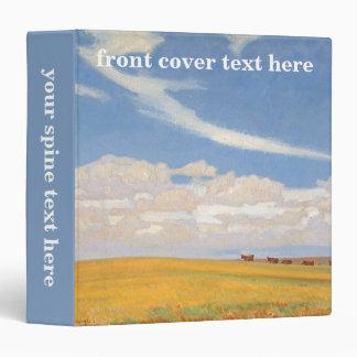 Prairie After Storm by Maynard Dixon, Vintage Art 3 Ring Binder