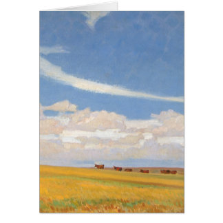 Prairie After Storm by Maynard Dixon, Vintage Art Greeting Card